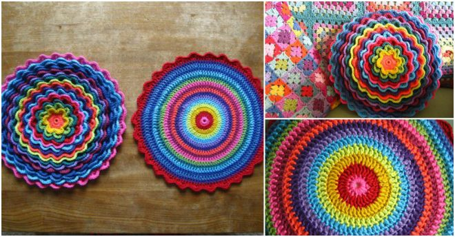 Crochet DIY Blooming Flower Cushion