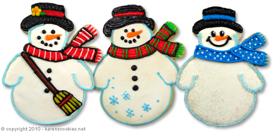 cute-snowmen-cookies