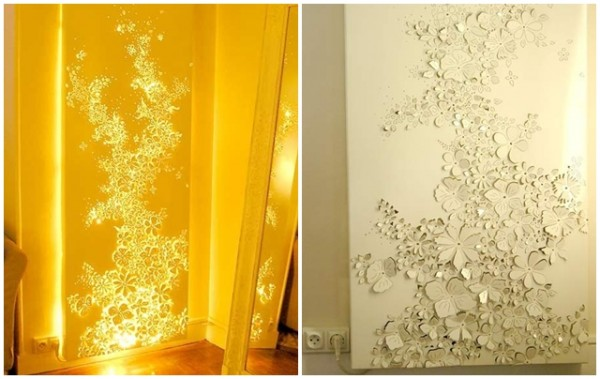 DIY Light Canvas Sculpture Art