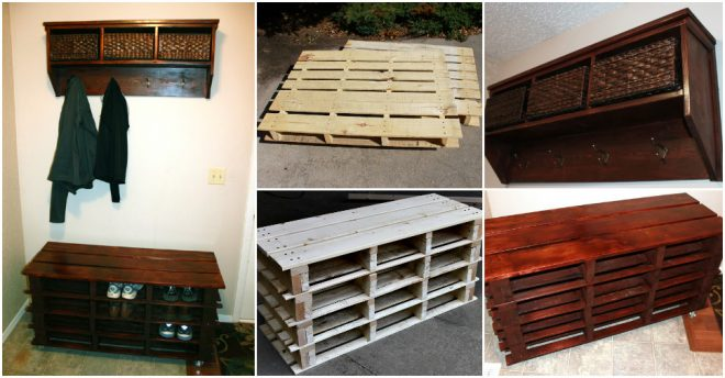 How To Make Diy Pallet Shoe Storage Bench How To