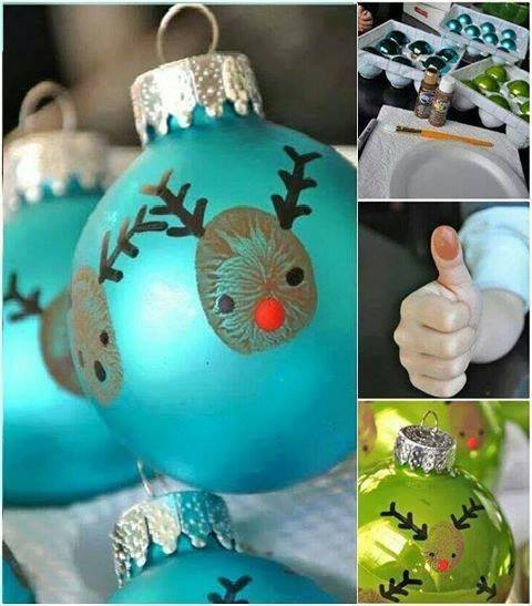DIY Thumbprint Reindeer Ornaments