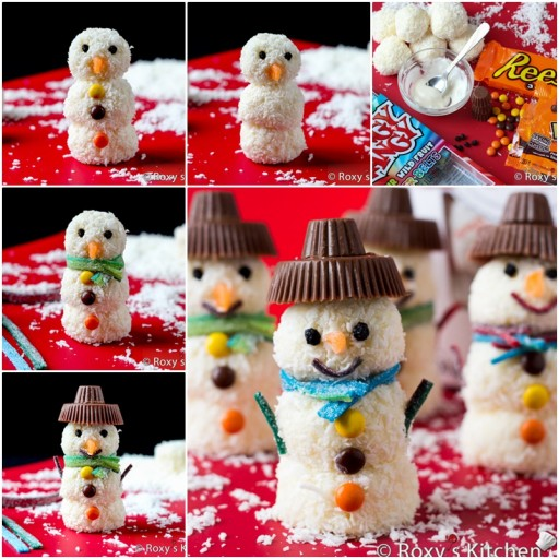 Homemade Raffaello Snowmen Tutorial