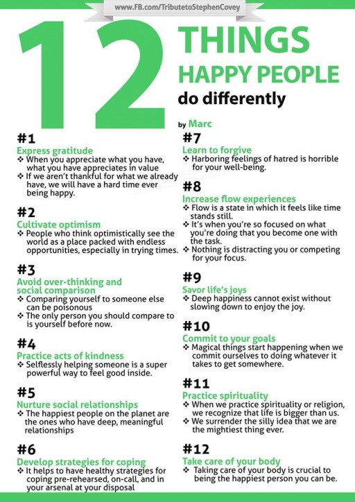 How To Be Happy - 12 Things Happy People Do Differently
