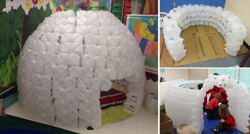 How To Build A Igloo With Milk Jugs