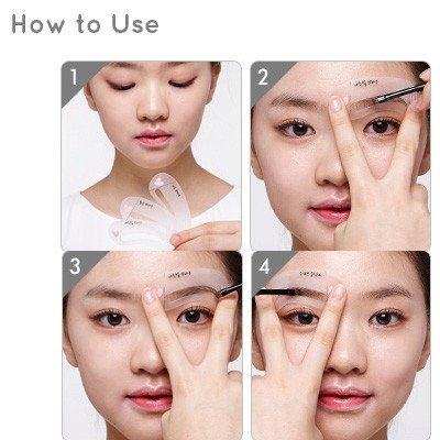 How To Fill Your Eyebrows With An Eyebrow Stencil