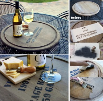 How To Give Your Lazy Susan A Wine Barrel Feel