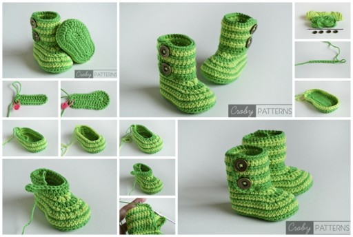 How To Make Cute Crochet Baby Booties