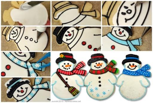How To Make Cute Snowmen Cookies