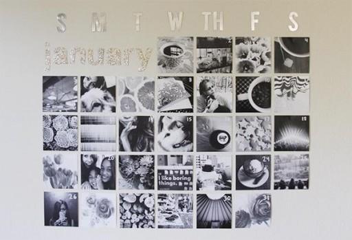 How To Make DIY Instgram Calendar