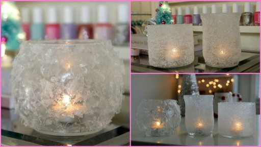 How To Make DIY Winter Votives