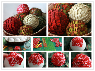 How To Make Fabric Pine Cone Crafts