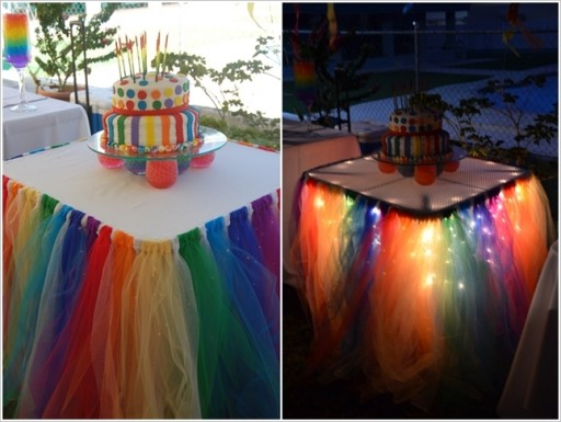 How To Make Fairy Light Tutu Table Skirt
