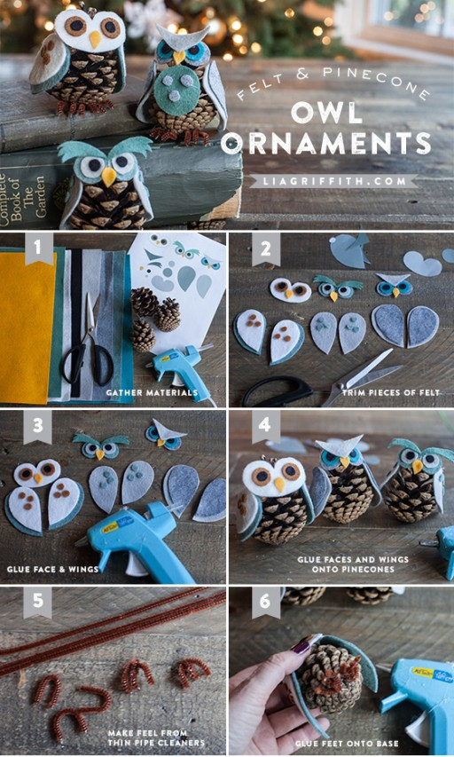 How To Make Pinecone Owl Ornaments 1
