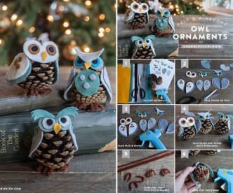 How To Make Pinecone Owl Ornaments