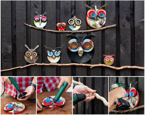 How To Make Recycled Owl Art