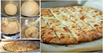 Fail-Proof Pizza Dough And Cheesy Garlic Bread Stick Recipe 1