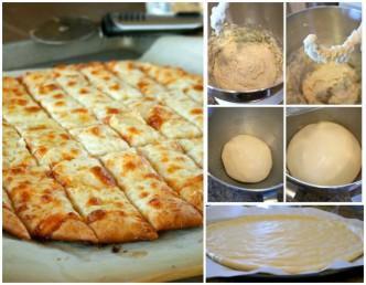 Fail-Proof Pizza Dough And Cheesy Garlic Bread Stick Recipe