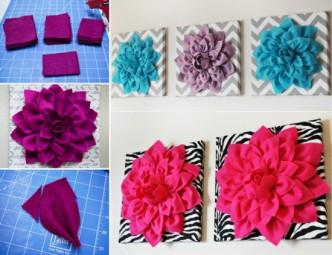 Flower Wall Art Tutorial