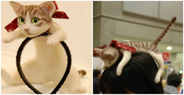 Forget Cat Ears - You Can Wear An Entire Kitten On Your Head With This Japanese Cat Headband