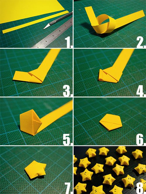How To Fold Colorful Paper Stars 1