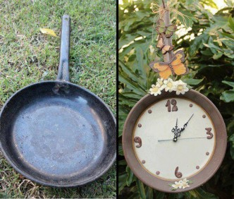 How To Make A Clock From A Cooking Pan