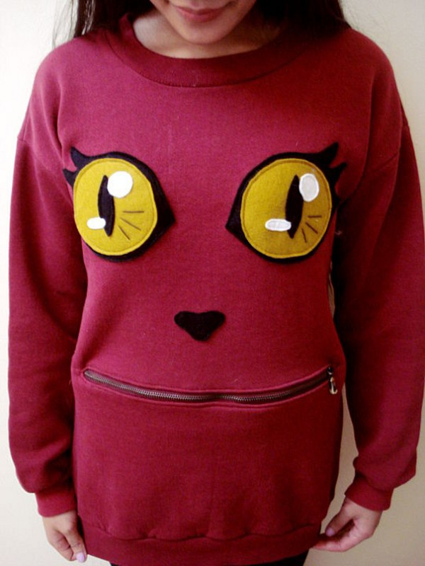 How To Make Awesome Zipper-Mouth cat Sweater 1
