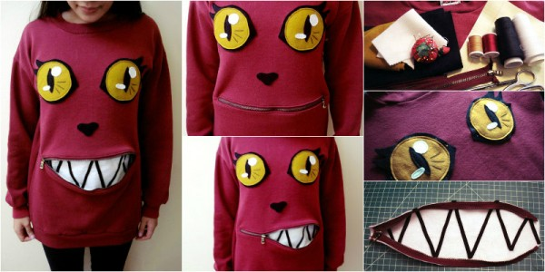 How To Make Awesome Zipper-Mouth cat Sweater