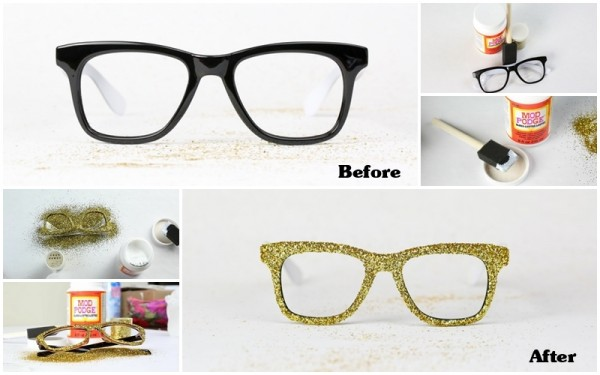 How To Make DIY Glitter Glasses Frames