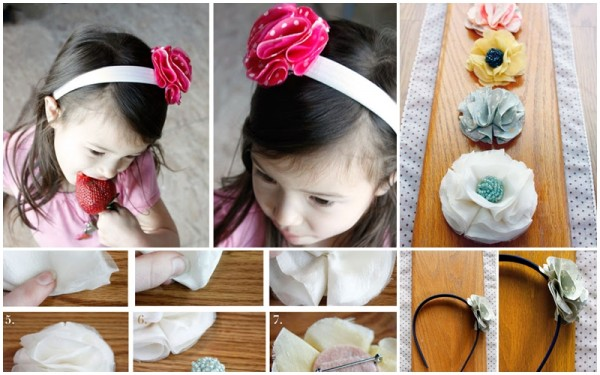 How To Make DIY No-Sew Fabric Flowers