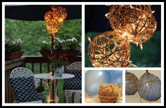 How To Make DIY Twine Garden Lanterns