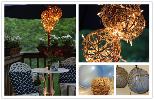 How To Make DIY Twine Garden Lanterns