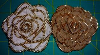 How To Make DIY Zipper Roses 1