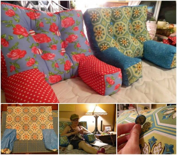 How To Sew Backrest Pillow With Arms