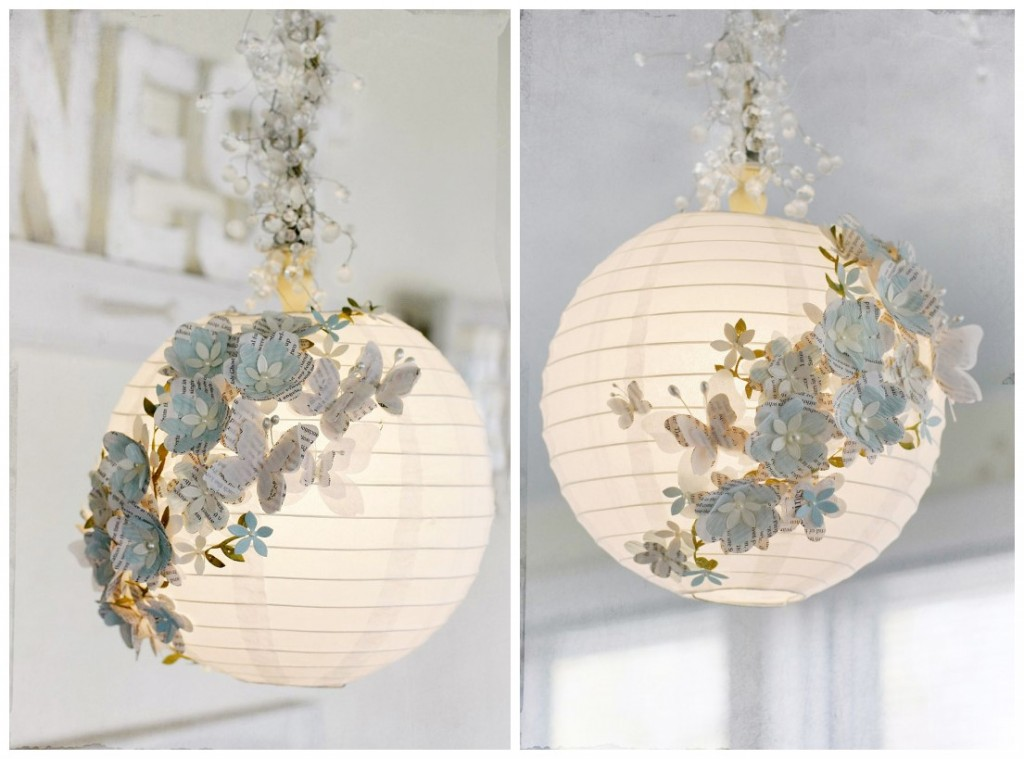 How To Turn Plain Paper Lanterns Into Swanky Home Decor