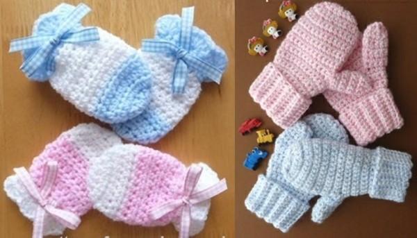 Kids Mittens Free Crochet Pattern