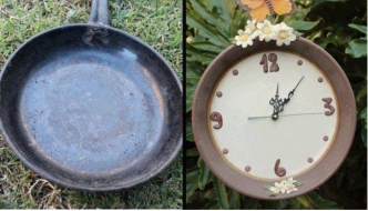 Make A Clock From A Cooking Pan