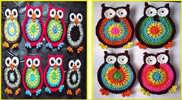 make your own coasters with free hooty owl coaster crochet pattern