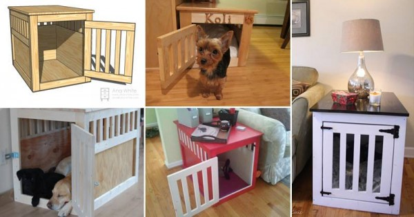 Pet Kennel End Table Tutorial