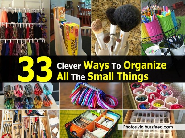 33 Clever Ways To Organize Small Things