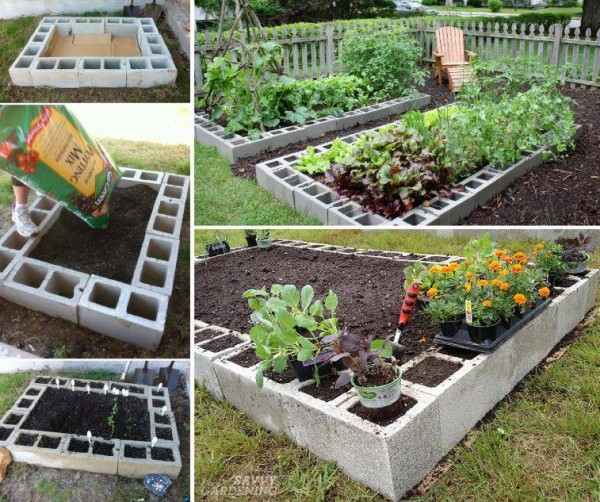 Cinder Block Raised Garden Bed How To Instructions