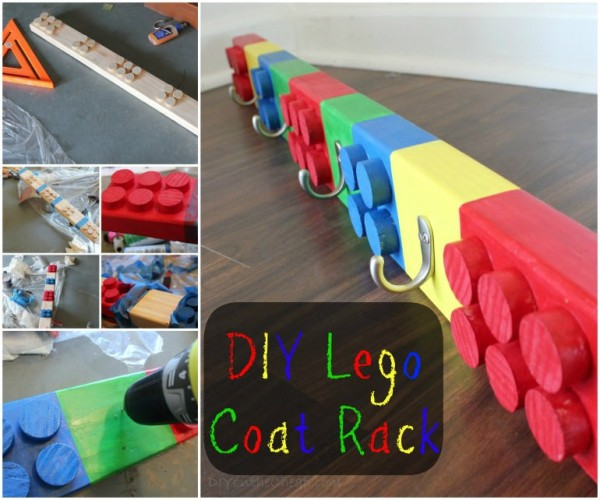 DIY Lego Coat Rack Tutorial
