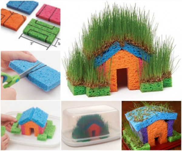 Fun Activities For Kids - Grass Sponge House