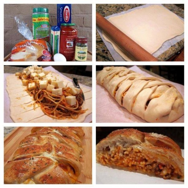 How To Make Braided Spaghetti Bread 1