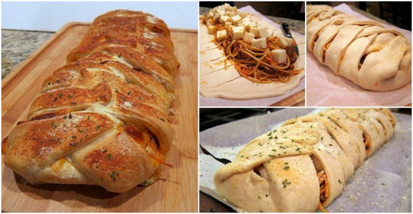 How To Make Braided Spaghetti Bread 3
