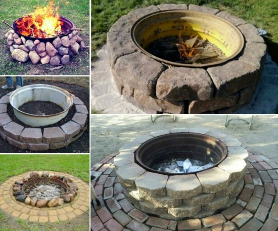 How To Make A Tire Rim Fire Pit How To Instructions