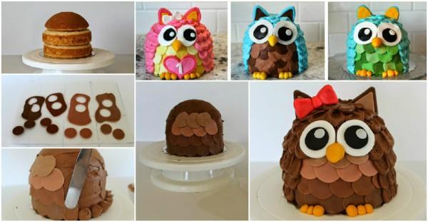 Cake Decorating Classes - Owl Cakes