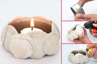 How To Make Luminaries With Shells