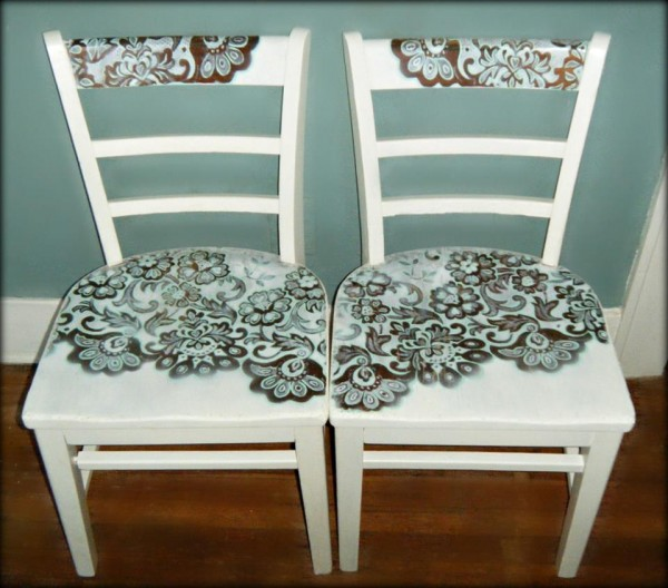 How To Paint A Chair With Lace