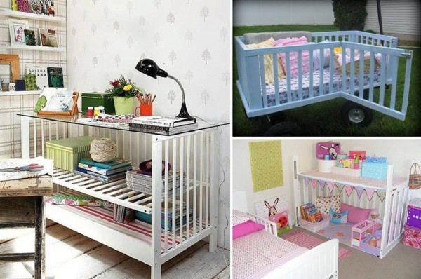 Baby Cribs Re-purposing Ideas