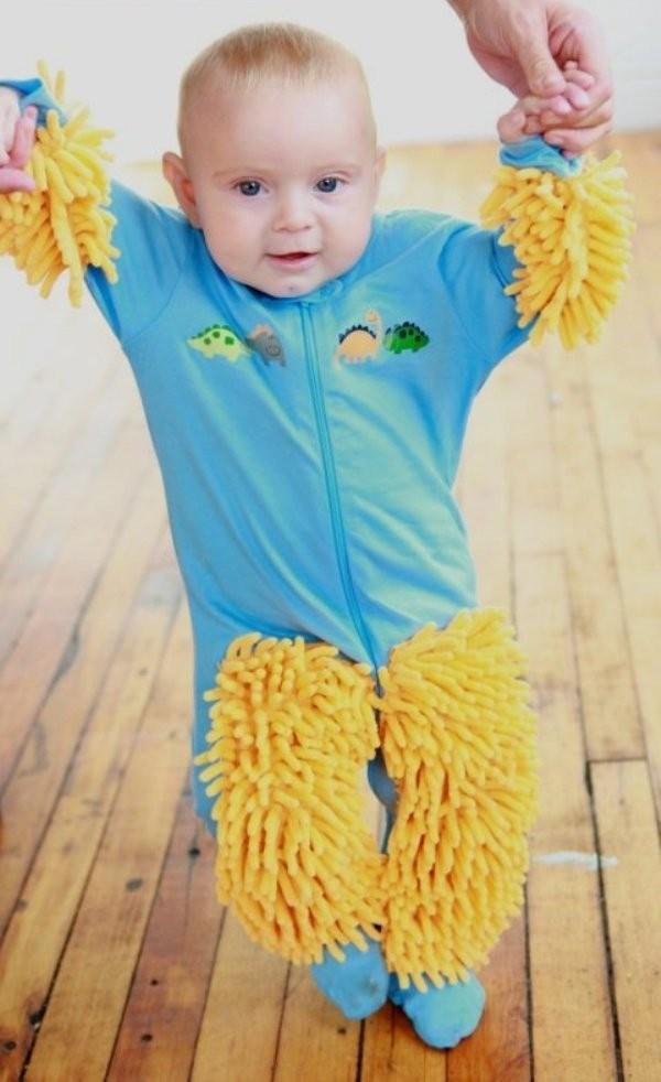 Baby Mop Onsies 1